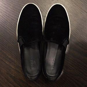 Shoes - Vince velvet slip on sneakers